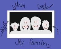 Drawn photo of a family Royalty Free Stock Photos