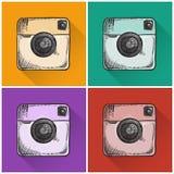 Drawn photo icons. Stock Image