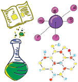 Drawn picture with chemistry stuff. Vector Stock Photos