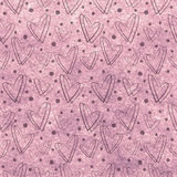 Drawn pink watercolor background with hearts and dots. Series of Watercolor, Pastel, Backgrounds Stock Photo