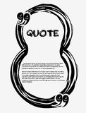 Drawn quotes and a frame. Frame in the shape of a figure eight. Number 8. Drawn quotes and a frame. Frame in the shape of a figure eight. Drawn quote blank Stock Images