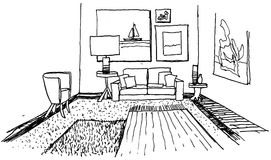 Drawn room Stock Images