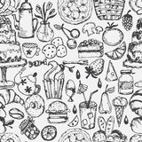 drawn seamless pattern for kitchen theme .Vector Stock Images