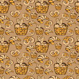 drawn seamless pattern for kitchen theme .Vector Royalty Free Stock Image