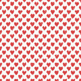Drawn seamless scribble hearts shapes pattern. Abstract doodle illustration Stock Photo