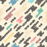 Drawn seamless scribble pattern. Abstract doodle illustration Stock Photography