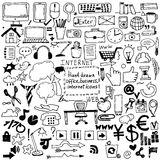 drawn sketch icons for business,internet and office. Vector Royalty Free Stock Photography