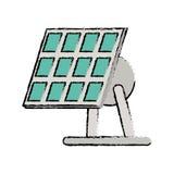 Drawn solar panel renewable energy alternative Royalty Free Stock Image