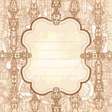 Drawn steampunk frame Royalty Free Stock Image
