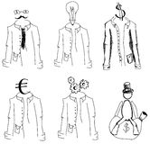 Drawn suits on white. Vector illustration Royalty Free Stock Image