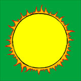 Drawn sun Stock Photography