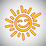 Drawn sun icons number 5 - vector. Drawn sun icons number 5 - stock vector Royalty Free Stock Photos