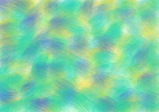 Drawn texture, background. Pastel drawn background with brushstrokes in green, blue and yellow colors. A4 size format. Series of Watercolor, Oil, Pastel, Chalk Vector Illustration