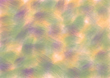 Drawn texture, background. Pastel drawn background with brushstrokes in green, violet and yellow colors. A4 size format. Series of Watercolor, Oil, Pastel, Chalk Vector Illustration