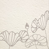 drawn water lilies on Mulberry paper Royalty Free Stock Photography