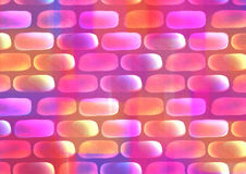 Drawn watercolor background in coral, pink and violet colors. Stock Images