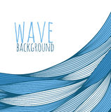 Drawn waves Royalty Free Stock Images