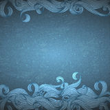 Drawn waves Stock Photography