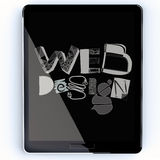 Drawn web deign on screen tablet computer Stock Image