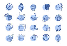 Drawn web  icons Royalty Free Stock Image
