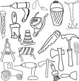 Drawn working tools Stock Image