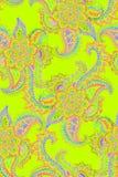 Drawnpaisley χεριών Watercolor πρότυπο άνευ ραφής Στοκ φωτογραφία με δικαίωμα ελεύθερης χρήσης