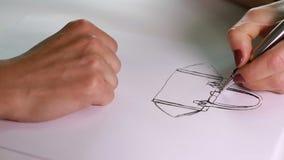 Draws a bag stock video