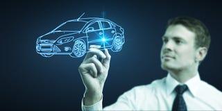 Draws car model Stock Photography