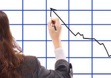 Draws elegant schedule. Stock Photo