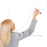 Draws a graph Stock Image