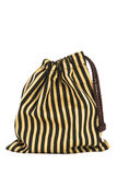 Drawstring bag. Striped Line fabric drawstring bag on white background royalty free stock images
