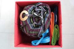 Drawstring bag Royalty Free Stock Photography