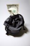 drawstring torby pieniędzy Obraz Royalty Free