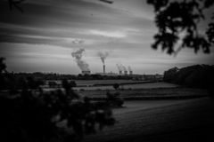 Drax Power Station Viewed From A Distance royalty free stock photography