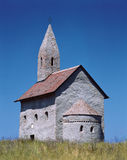 Drazovce. Isolated Romanesque church, Drazovce, Slovakia Stock Images