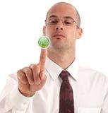 Drücken Sie die Lösungstaste Lizenzfreies Stockfoto