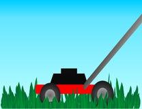 Drücken Sie Rasenmäher Lizenzfreie Stockfotos