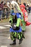 Dreadful mask at Carnival parade, Stuttgart Stock Photos