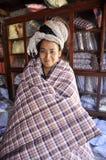 妇女头发亚洲俏丽的鸭绒垫子盖子Dreadlock 库存图片