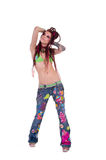 Dreadlock Hippie Dancing Stock Image