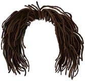 Dreadlocks africanos do cabelo hairstyle ilustração do vetor