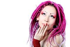 Dreadlocks cor-de-rosa Fotos de Stock Royalty Free