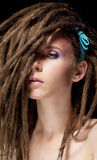 Dreadlocks. Fashion hairstyle with dreads Royalty Free Stock Photos