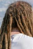 Dreadlocks hairstyle of man.Hair dreadlocks reggae stile. Dreadlocks hairstyle of man.Hair dreadlocks reggae stock photo