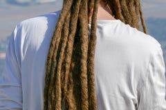 Dreadlocks hairstyle of man.Hair dreadlocks reggae stile.  Stock Photo
