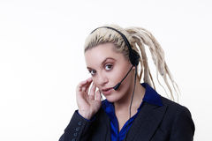 Dreadlocks at work Stock Image