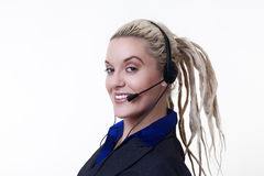 Dreadlocks at work Royalty Free Stock Photography