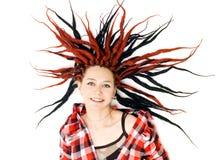 dreadlockskvinna royaltyfri fotografi