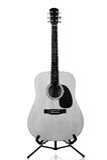 Dreadnought Guitar on White Stock Photos