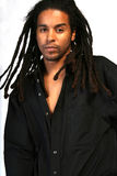 Dreads. A sexy male african american model Stock Photography